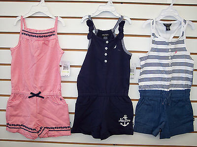 Girls Nautica $32.50 Assorted 1pc Rompers Size 4 - 8
