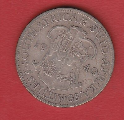 South Africa  2 Shilling 1940 Silver