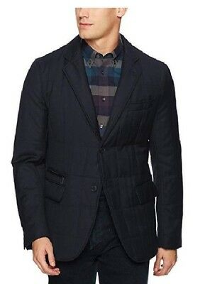 Bugatchi Men's Quilted Wool Blazer Jacket, Navy, Size Large, NWT, MSRP $460