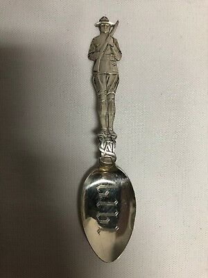 Charles Robbins Sterling Silver Souvenir Spoon Figural WWI Soldier 1919