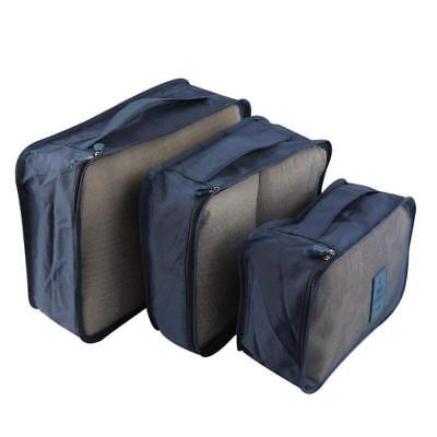 6pcs Waterproof Clothes Storage Bag Packing Cube Travel Luggage Organizer kit