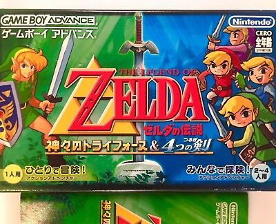 The Legend of Zelda FOUR 4 SWORDS+LINK TO THE PAST  *JAPAN* GBA Gameboy Advance
