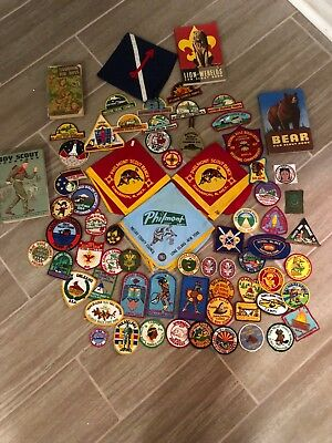 Lot of Vintage And Modern Boy Scout Pins & Patches 86+ Pieces & Handbooks.