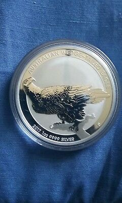 2017 1oz Silver Australian Wedge-Tailed Eagle .9999 1 Dollar Elizabeth II