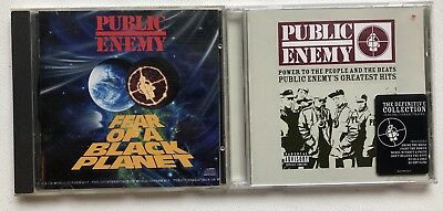 Public Enemy - Fear Of A Black Planet Cd Album + Chuck D - No Cd Single