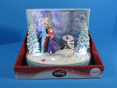 New! Disney Frozen Christmas Animated Musical Table Top Decor Anna Elsa Olaf