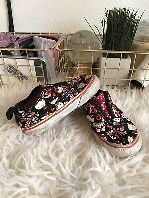 Vans Hello Kitty Slip-Ons Kid's Shoes Girl's Size Toddler 5.5 Black, White, Red