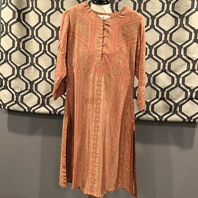Ritu Kumar Medium Kurta Peach Floral