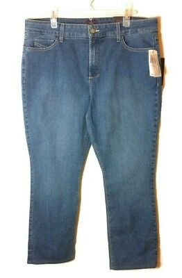 NYDJ Not Your Daughters Jeans Size 18P Straight Modesto Wash MSRP $114