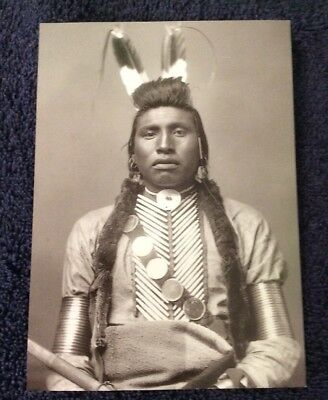 Modern Post Card Of Chief White Bull, Crow Indian, 1883.