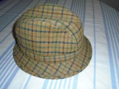 Mens  HAT TWEED- TRILBY by OLNEY 100% WOOL.  57 cm. EXCELLENT COND'N
