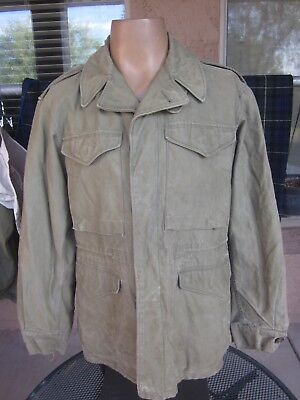1943 Dated M-43 WWII Field Jacket, OD with Khaki Liner