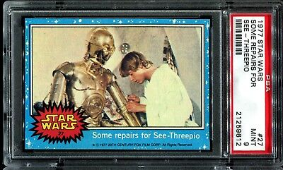 1977 Topps Star Wars Blue Series 1 #27 SOME REPAIRS FOR..... PSA 9 MINT  a