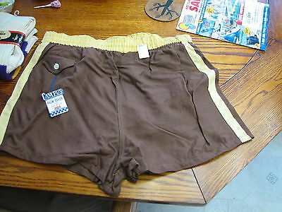 Campus mens swim suit trunks shorts 38 w new old store stock 1960s 1970s vintage