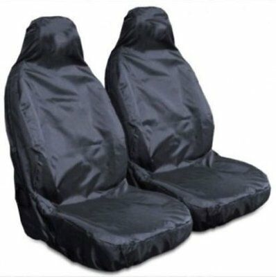 For Nissan Qashqai 07-13 Heavy Duty Black Waterproof Car Seat Covers 2 x Fronts