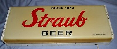 *Vintage* Straub Beer  Sign Light St. Mary's PA  Lighted