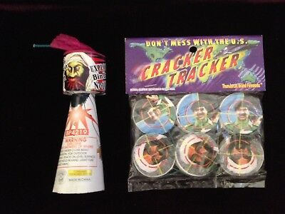 Bin Laden Noggin and Cracker Tracker Firecrackers/Fireworks Labels