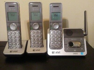 AT&T DECT 6.0 Cordless Phone Answering System with 3 Handsets  CL82351
