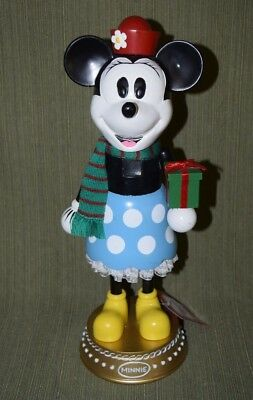 "Retro Minnie Mouse Wooden Nutcracker 14"" With Tags JcPenney Disney Holiday 2009"