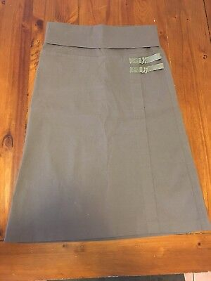 Patch Maternity Brown Skirt Size S A-line stretchy fold down waist