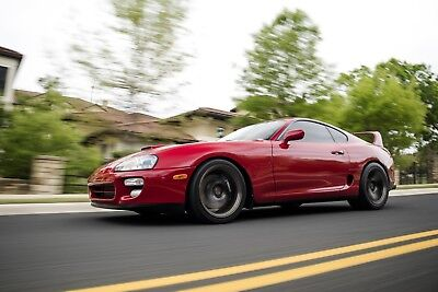 1993 Toyota Supra Turbo Renaissance Red, 18,788 miles, Factory 6 spd, 940 rwhp, immaculate.