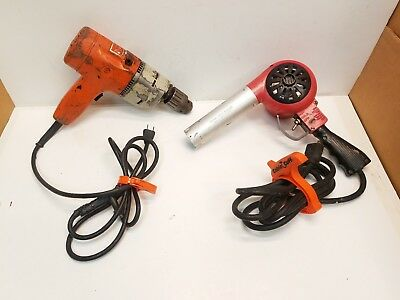 Black & Decker Corded 1/2 Hammer Drill & Laramy Heat Gun Paint Stripper 14 amp