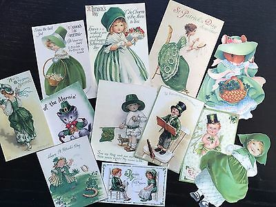 BB72 -- Lot of 12 Vintage St Patrick's Day DIE CUTS for CARD MAKING