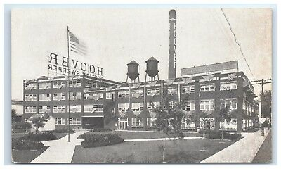 Postcard Hoover Suction Sweeper Factory, Vacuum, Private Mailing Card unpost D14