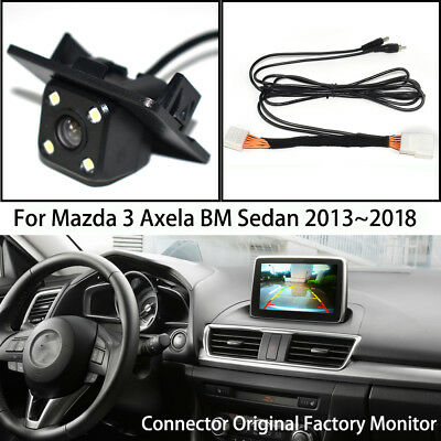 Car Rear View Reverse Parking Camera for Mazda 3 Mazda3 Axela Sedan BM 2013~2018