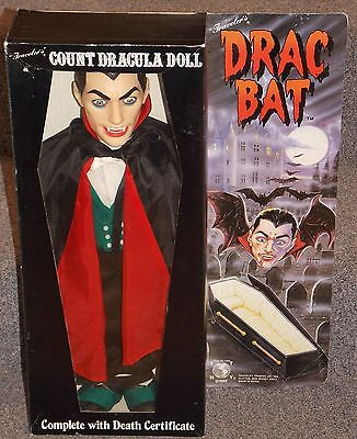 Vintage 1985 Travelers Drac Bat Count Dracula Doll New In The Box