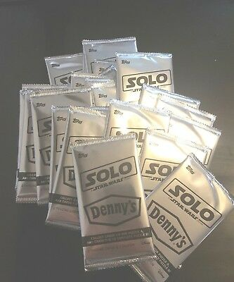 Dennys Solo Star Wars cards 25 packs! Lot #2