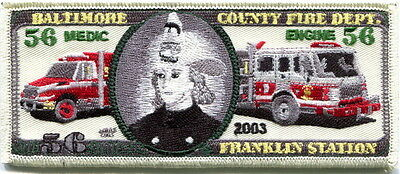 Maryland - Baltimore County Fire Dept. Franklin station 56 old style patch