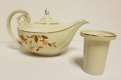 Beautiful HALL AUTUMN LEAF ALADDIN TEAPOT WITH INFUSER!! Never Used!!