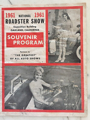 Rare Original 1961 Grand National Oakland Roadster Show Program Hot Rat Rod SCTA