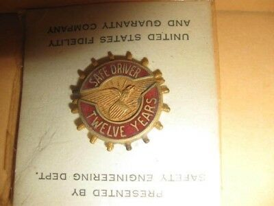 New PIN United States Fidelity Guaranty SAFE DRIVER 12 Years 1/10 10K goldfilled