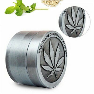 Metal Zinc Alloy Tobacco Herb Grinder Hand Muller Smoke Crusher 4-Layers 40MM LD