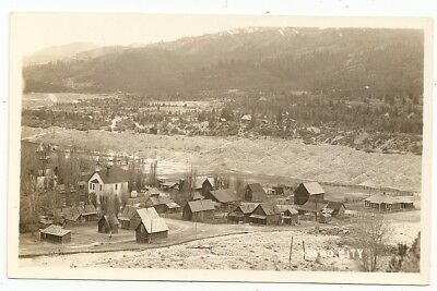 Idaho City, nice early view of buildings houses,  Idaho ID photo rppc Postcard