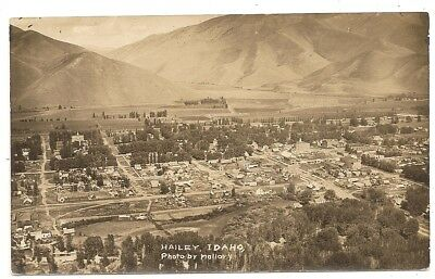 Hailey, panorama Idaho ID photo by Mallory rppc Postcard