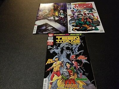 Teen Titans Special Plus #20 3 Cover First Appearance of Crush Set  First Print
