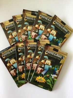 10x Packs Of Minecraft Collectible Sticker-Cards
