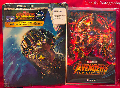 Avengers: Infinity War SteelBook 4K Ultra HD Blu-ray + Bonus Art Cards