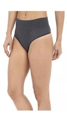 Spanx Lounge Hooray Thong Gray Sizes Of Small & Medium