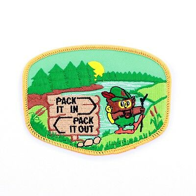Official Woodsy Owl Patch Iron on US Forest Service, Smokey Bear series
