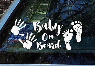 Baby Hands Feet Baby on Board Sticker Decal Safety Sign
