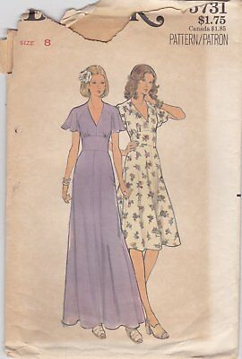 Lovely Summer Dress Pattern Butterick 5731 Size 8
