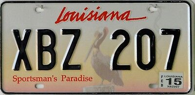 USA Number Licence Plate LOUISIANA PELICAN SPORTSMANS PARADISE