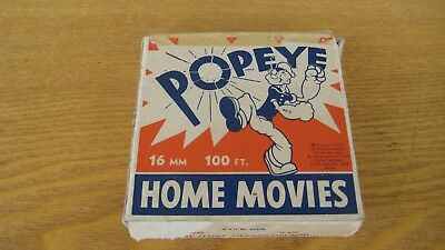 16 MM 100 ft 1929 by king Features Home Movies  POPEYE Cartoon Movie Antique