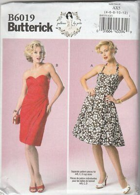 Butterick B6019 Patterns By Gertie Size 4-6-8-10-12  uncut