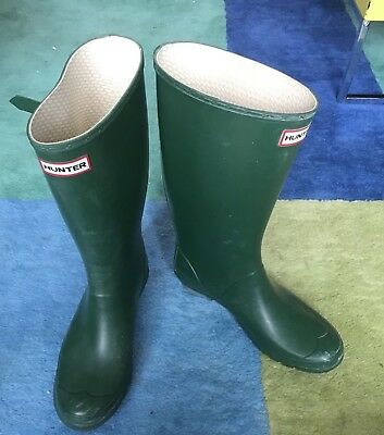 men's hunter green wellington boots size 10 UK excellent condition worn once