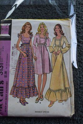 Vintage McCalls 3131 Misses Dress in size 10